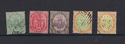 St Kitts-Nevis 1905-18 Values to 1/- Good-Fine Used
