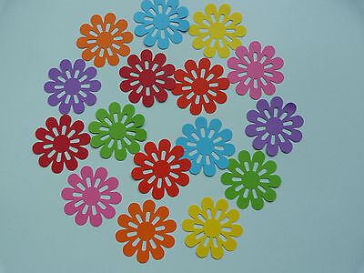 "100 x 1.5"" assorted paper flower shapes art craftn cardmaking scrapbooking"