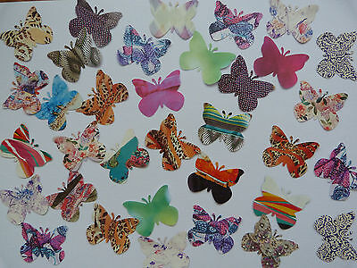 50 x large recycled paper butterflies shapes
