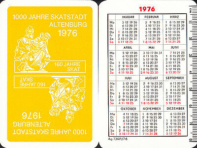 seltenes Kartenspiel Spielkarten Playing Cards Skat Sonderbild Altenburg 1976