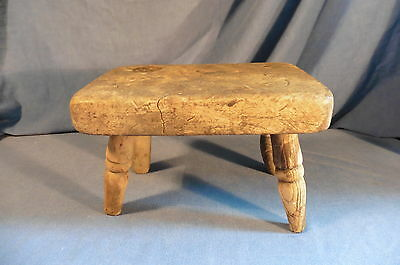Antique small stool chair - solid wood