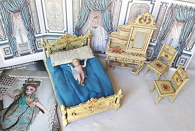 Antique furniture for mignonette doll / dollhouse - Germany circa 1890