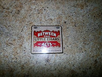 Vintage Original Cigar Tin. Between The Acts Little Cigars. When Time Is Short
