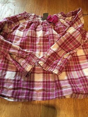 Baby Girl GAP Tunic Top Size 12-18 Months Check Tartan Summer