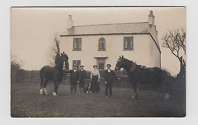 Farm House   believed to be in HUCKNALL TORKARD Real Photo Postcard writing/back