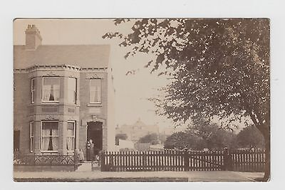 Terraced  House   believed to be in HUCKNALL TORKARD Real Photo Postcard Unused