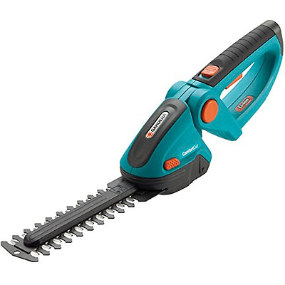 GARDENA 8895 Lithium Ion ComfortCut Rechargeable Shrub Shears, Turquoise/Orange/