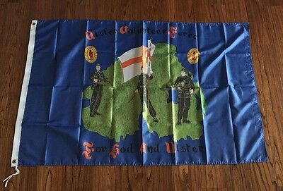 Ulster Loyalist Ulster Volunteer Force For God And Ulster Souvenir Flag 3X5FT