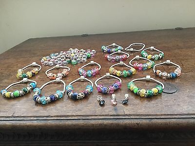 Job lot mixed bundle wholesale jewellery Charm bracelets New