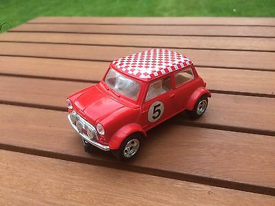 Vintage Scalextric Car C150 Red Mini No.5 ( Excellent Condition )