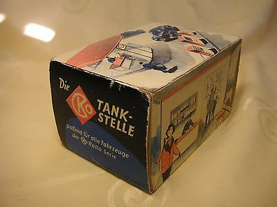 CKO Kellermann Rollo Esso Tankstelle Nr. 400 OKT Made in Germany Tin Tole Latta