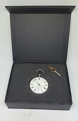 STUNNING  antique solid silver fusee Chester pocket watch 1875 working
