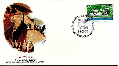 Canada - History 1983  Fdc - Fort William  Fleetwood