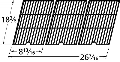 Music City Metals 65253 Matte Cast Iron Cooking Grid Replacement for Select Cole