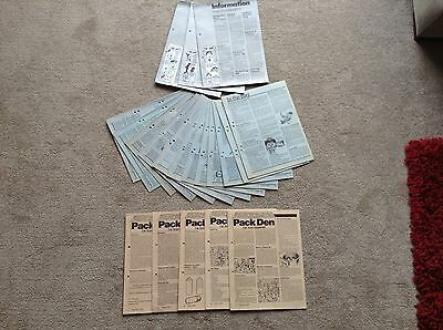 Vintage 70/80s Cub Scout Supplements, Pack Den, in the Bag, Information from HQ