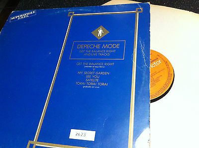 Depeche Mode ‎– Get The Balance Right And Live Tracks Spain Limited Numbered 12""