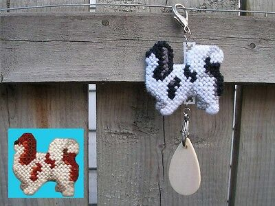 Japanese Chin #2 dog crate tag or hang anywhere pet themed art ornament, spaniel
