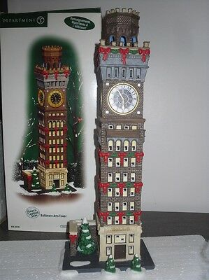 Department56 DP56 Tour illuminée Baltimore tower pour village de noel -no lemax