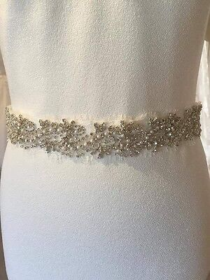 Nieve Couture Embellished Bridal Belt Wedding Belt