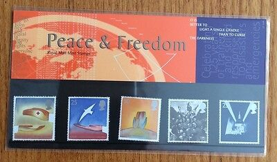 Royal Mail Presentation Pack : Peace and Freedom