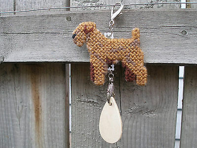 Lakeland Terrier #3 dog crate tag or hang anywhere pet needlepoint ornament art