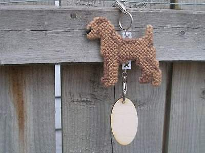Irish Terrier dog crate tag or hang anywhere handmade pet art decor ornament