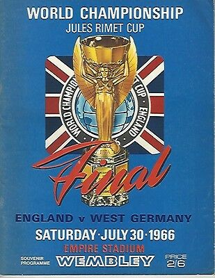 England v West Germany 1966 World Cup Final Programme (Plus Tournament Prog)