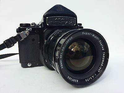 Pentax 67 Medium Format Camera bundle with 75mm f4.5 lens + Strap
