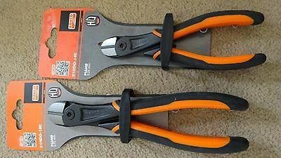 BAHCO Heavy Duty ERGO Piano Wire Side Cutting Pliers x 2 -  140mm & 180mm - NEW