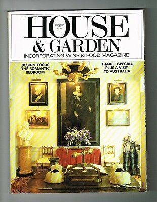 """VINTAGE """"HOUSE AND GARDEN"""" magazine October 1985 English home style monthly"""