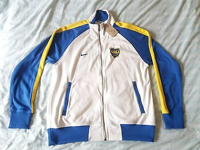 Men's Nike Boca Juniors CABJ Warm-Up Jacket LARGE Zipped Football Soccer Futbol