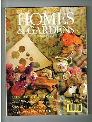 VINTAGE ' HOMES AND GARDENS' MAGAZINE November 1990 English home style monthly