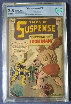 Silver Age Marvel Hero Comic; Tales Of Suspense #40 2Nd Iron Man Cbcs 2.5 Tape