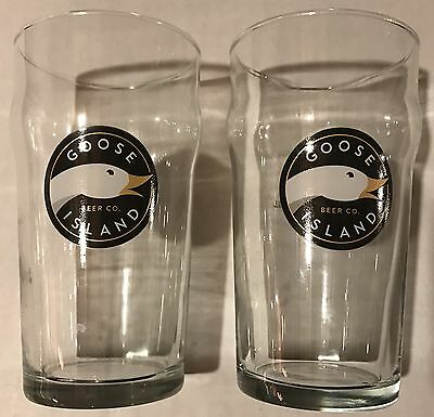 2 Goose Island Brewing 16oz Pint Craft Beer Glasses Chicago, IL New.