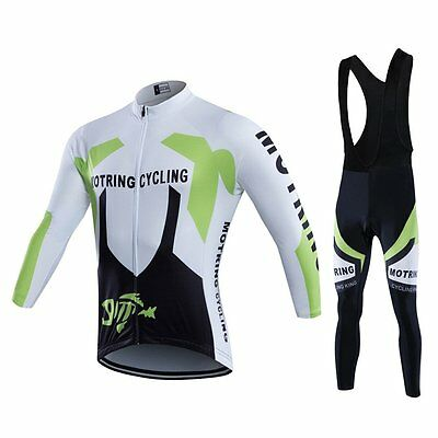 2016 Outdoor Sports Team Men's Long Sleeve USHOW Cycling Jersey and Bib Shorts