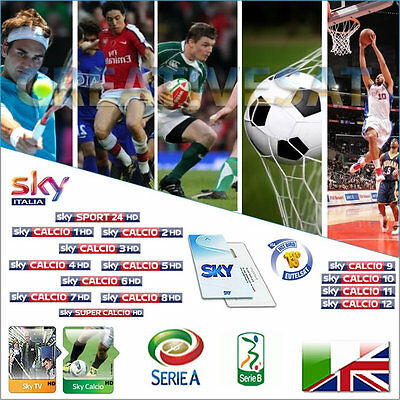 Sky Italia SkyTV + Calcio HD 12 Months Viewing Card
