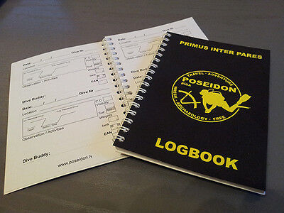 Scuba Diving Diver`s  Log Book - Dive Club POSEIDON (100 dives!!! )