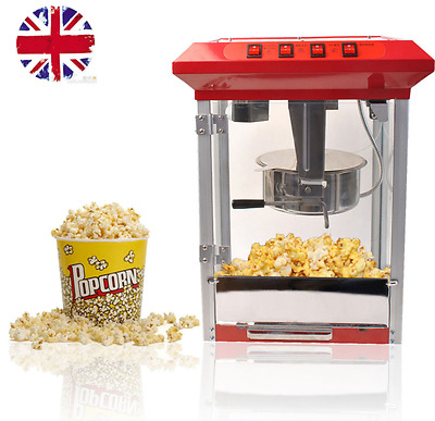 Electric Pop Corn Maker Popcorn Machine Commercial  Popper Party Red Home Pro