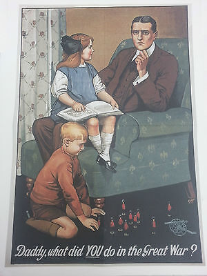World War I Double Sided Poster What did you do in the Great War / Enlist Now!