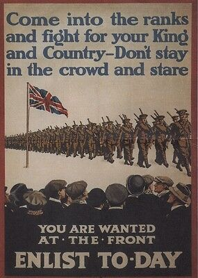 World War I Recruitment Double Sided Poster Enlist Today / Women Win The War