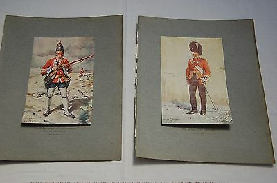 2 Superb Military Prints George Kruger Gray 1917 Royal Scots Fusiliers & Guards