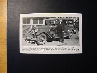 1920's Trade Card For New Studebaker