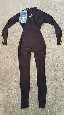 Black Gold Adidas Jetconcept Full Body Swimsuit Spandex Lycra Catsuit M 8 32""
