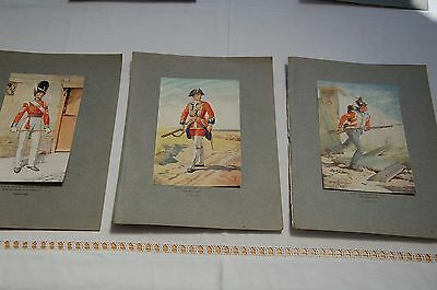 3 Superb Military Prints George Kruger Gray 1917 The Royal Scots & Fusiliers