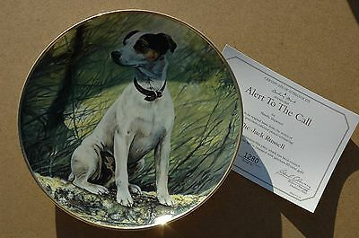 Danbury Mint Jack Russell 'Alert to the Call' Collectors Plate