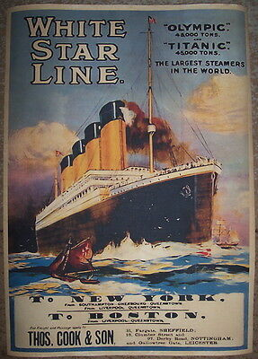 Titanic & Olympic White Star Line poster**