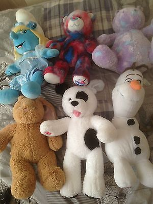 Build A Bear Bundle Of Soft Plush Toys Including Smurf And Frozen