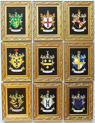 Family Name Heraldic Fridge Magnet A-Z Coat of Arms Gift History