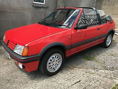 super 1986 peugeot 205 cti 1600 convertible 4 picclick uk. Black Bedroom Furniture Sets. Home Design Ideas