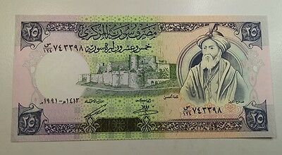 1991 Syria 25 Pounds Note